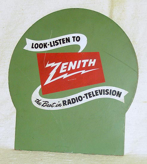Zenith Advertizing sign