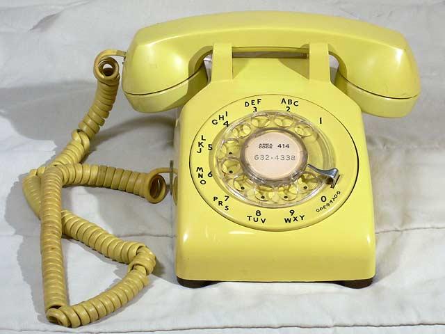 Phones - Western Electric 500DM, yellow c. 1981