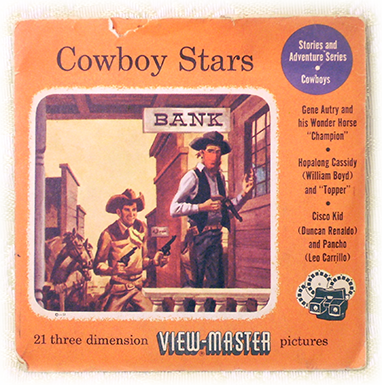 View Masters Cowboy Stars Sawyers Packet 950 955 960 S3