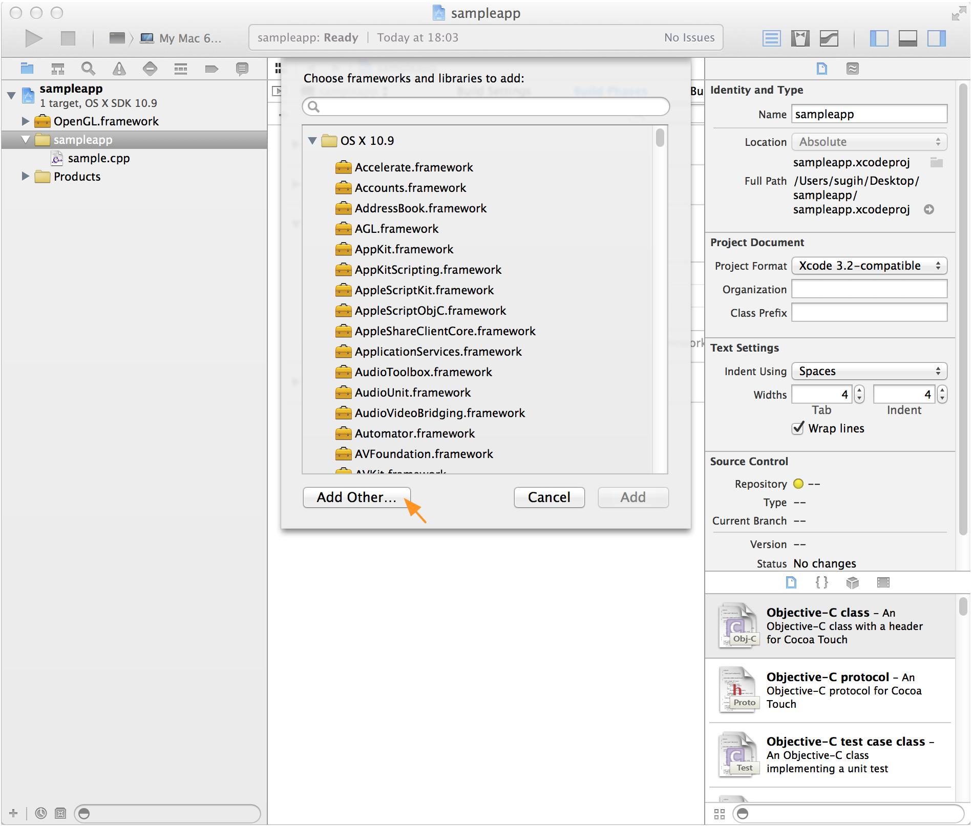 Building OpenGL/GLFW Apps