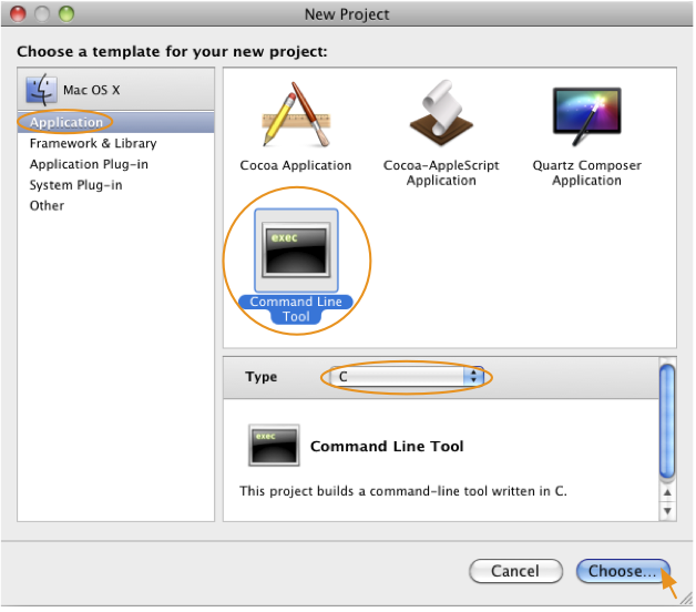 Figures for Building OpenGL/GLUT Programs on Mac OS X Snow